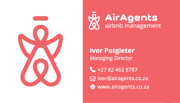 Air Agents Property Management Business Card Design