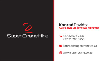 Supercrane Business Card Design