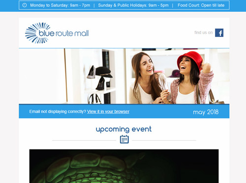 Email Marketing for Blue Route Mall