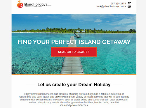 Bulk Newsletter Sending for Islands Holidays