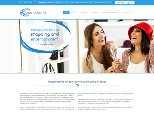 Content Managed Website for Shopping Mall Website