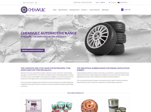 E-Commerce Website Design for Tyre Related Products